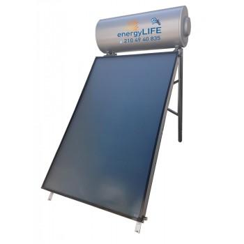 Ηλιακός Θερμοσίφωνας 120 λίτρα με επιλεκτικό συλλέκτη 1,50m2.