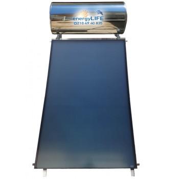 Ηλιακός Θερμοσίφωνας INOX/GLASS 160 λίτρα με επιλεκτικό συλλέκτη 2,50m2.
