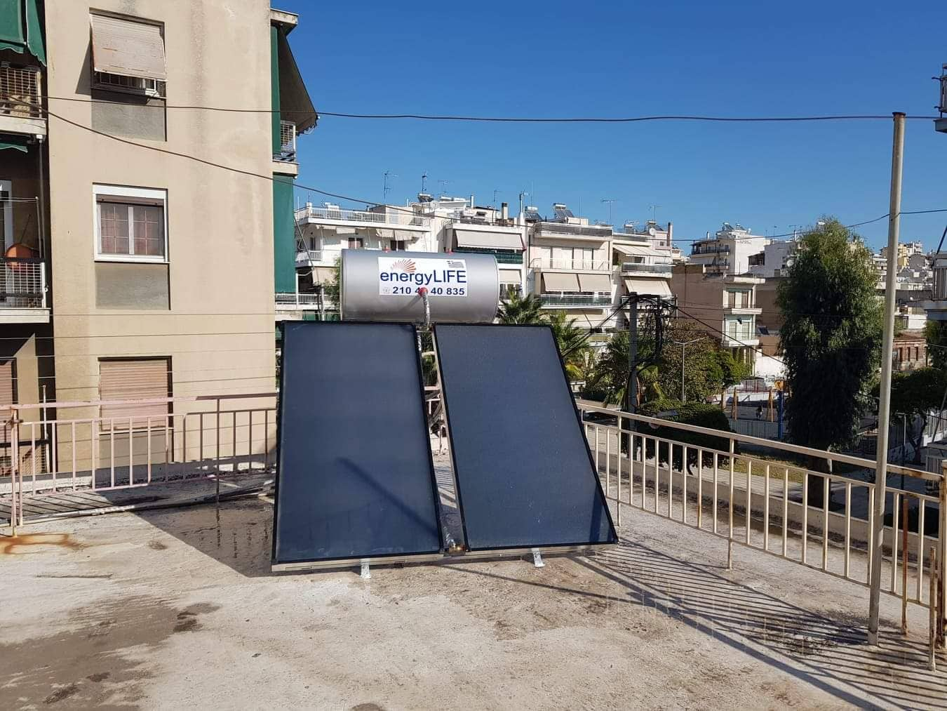Εγκατάσταση νέου Ηλιακού Θερμοσίφωνα
